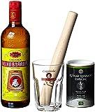 Velho Barreiro Caipi-Set II-Caiprinha Bundel, Cachaca, Rohrzucker, Stampfer, Glas in Geschenkverpackung (1 x 0.7 l)