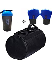 SOOPLE SPORTZ Gym Bag Combo Set Enclosed With Soft Leather Gym Bag For Men And Women For Fitness - Bag Size 49cm... - B07CSQH4WQ