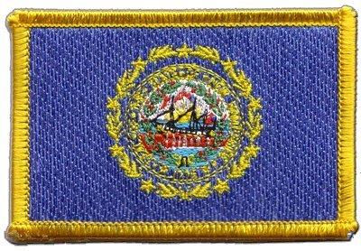 NEW HAMPSHIRE Stati Uniti Bandiera ricamato toppa termoadesiva