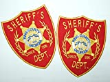 OneKool King County Sheriff Dept. Prop Replica Shoulder Patches The Walking Dead - 2 Aufnäher Bügelbild Iron on Patches Applikation - Neu Set of 2 by