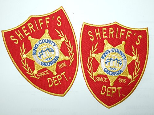 Sheriff Dept. Prop Replica Shoulder Patches The Walking Dead - 2 Aufnäher Bügelbild Iron on Patches Applikation - Neu Set of 2 by (The Walking Dead Prop)