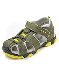Huhua-Baby Sandal Sandals for Boys, Sandali Bambine Rosa Hot rosa, Giallo (Yellow), 25 EU