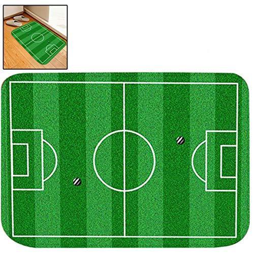 """Beito Fußabtreter Bad Teppiche Outdoor/Indoor Fußmatte Linie Fußballfeld Fußball Green Court Für Erstellen Game Player Yard Top Badezimmer-Dekor Teppich Badematte 16\"""" X 24\"""""""