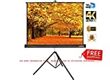 #3: Elcor Tripod Type Projector Screen 6 Ft. (Width) X 4 Ft. (Height) With Tripod Stand For 3D And Full HDTV