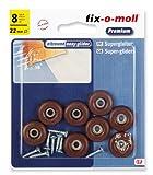 fix-o-moll Universal PTFE Gleiter mit Schraube 22 mm 8 Stück braun, 3566444