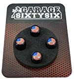Ventilkappen USA / 4 Stück in schwarz / Modell: Pittsburg