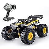 GizmoVine Ferngesteuerte Autos 1/18 Monster Truck Oversized Reifen 2,4 Ghz funkgesteuertes Auto für Kinder (Gelb)