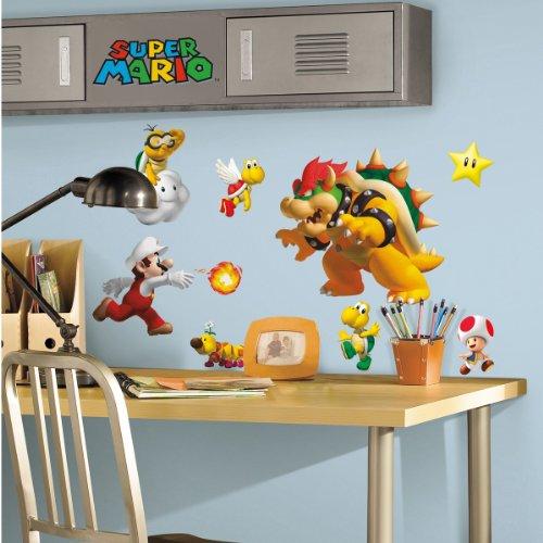 Super Mario Bros. Wii Peel & Stick Wall Decals - 35 coole Wandsticker - aus USA