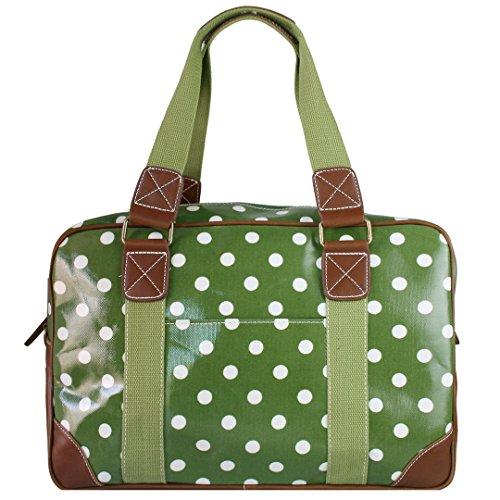 Miss Lulu , Damen Tote-Tasche Gepunktet Grün