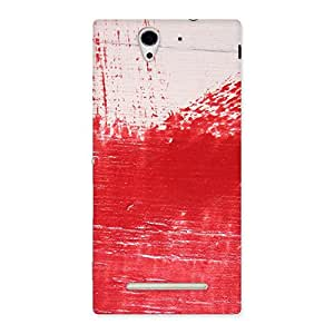 Delighted Red Fresh Texture Back Case Cover for Sony Xperia C3