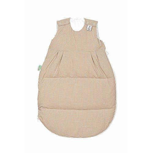 Preisvergleich Produktbild Odenwälder Daunen-Schlafsack Karo beige,  Größe:70