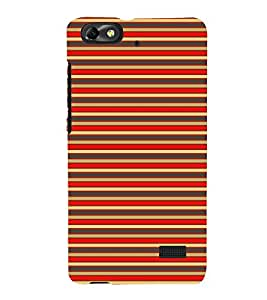 Fuson Designer Back Case Cover for Huawei Honor 4C :: Huawei G Play Mini (Red lines yellow Lines Green Lines Marine Lines Alternate Lines)