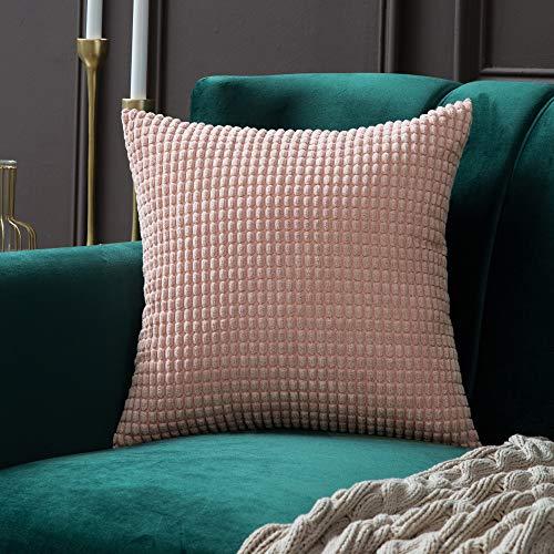 MIULEE 1 Stück Cord Weiches Massiv Dekorativen Quadratisch Überwurf Kissenbezüge Kissen für Sofa Schlafzimmer Auto 24