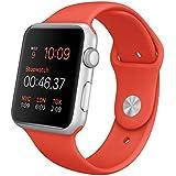 Apple Watch Sport - relojes inteligentes (Fluoroelastomer, Rectangular, 140 - 210 mm, Ión de litio, Plata, Aluminio)