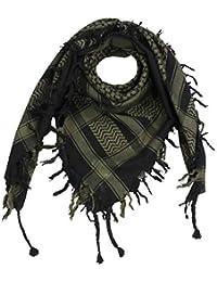 f54e945db84 FREAK SCENE® Foulard palestinien keffieh en coton - couleur de base noire - 100  x 100 cm - Large palette de…