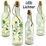 alles-meine GmbH 1 Stück _ Licht Dekoflasche - 10 Stück LED -  Blumen & Schmetterlinge  - FLA..