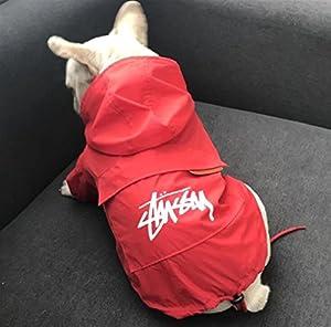 XCXpj Chiens d'été de Refroidissement Vêtements d'été pour Animal Domestique imperméable avec Chapeau Protection Solaire Combinaison imperméable pour Chien Chat Rouge L