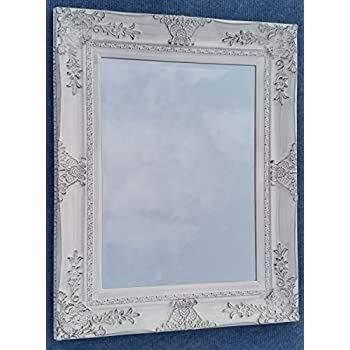 uku0027s bestselling large white wall mirror normally french baroque antique white distressed wall mirror with wide ornate frame overall size