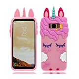 Samsung Galaxy S8 Plus Hülle, Mode Niedlichen Cartoon 3D Muster [Stoßfestes Design] Dicke Weiche Silikon Rückseitige Abdeckung Telefon handyhülle für Samsung Galaxy S8 Plus, Unicorn Einhorn