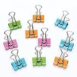 Binder Clips - SODIAL(R)50x Bueroklammern Foldback Clips Binder Clips 19mm in Ausdruck zufaellig versendet