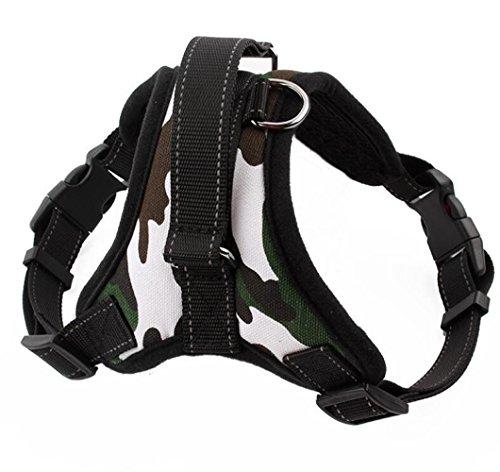 OOFWY Hundegeschirr Explosionsgeschützte Weich gepolstertes Training Walking Abenteuer für Outdoor-Abenteuer im Freien Reflektierende Haustier-Weste , B , L