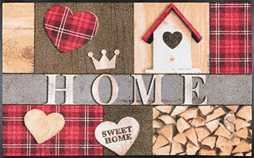 wash+dry Cottage Home Fußmatte, Acryl, bunt, 75x120x0.7 cm - Cottage Möbel
