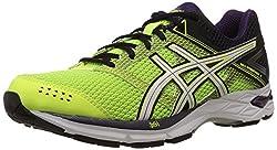 Asics Mens Gel Phoenix 7 Flash Yellow, White and Black Mesh Running Shoes - 9 UK