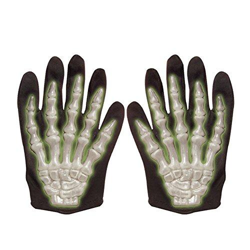 (Widmann 8408G - 3D Skelett Handschuhe für Kinder, fluoreszierend)