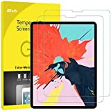 JETech 2-Pack Screen Protector for iPad Pro 12.9-Inch (2018 Release Edge to Edge Liquid Retina Display), Face ID Compatible, Tempered Glass Film Bild