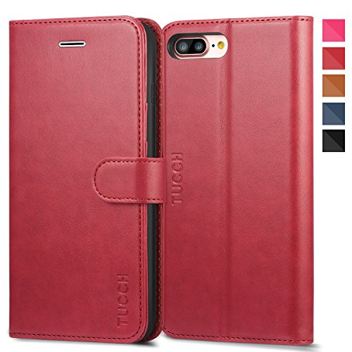 coque iphone 8 plus rouge cuir