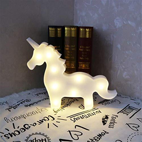 QiXian Lumière de Nuit Props Blanc Licorne Tête Tir Décoratif Lumières LED Lampe de Bureau Mignon Salle des Enfants Styling Nuit Lumière Rêve Tenture Murale