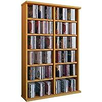 VCM Torre para CD/DVD para Ronul haya, 300 CDs, sin puerta de cristal.