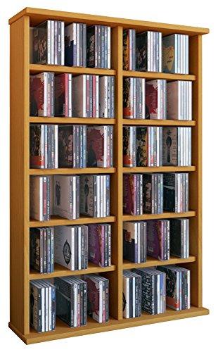 VCM Torre para CD/DVD para 'Ronul' haya, 300 CDs, sin puerta de cristal.