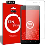 nandu I ZenGlass [2 Stück] Flexible Glas-Folie für Huawei G Play Mini Panzerfolie I Bildschirm-Schutzfolie 9H