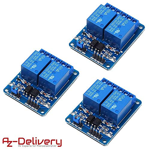 AZDelivery  3 x 2-Relais Modul 5V mit Optokoppler Low-Level-Trigger für Arduino