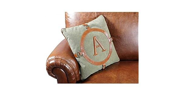 Divano Lino Grezzo : Cuscino third army columbia vintage cuoio lino cuscino da