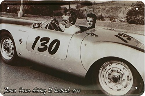 James Dean 1955 driving car Auto Blechschild 20 x 30 Retro Blech 1754 (James-dean-auto)