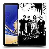 Head Case Designs Offizielle 5 Seconds of Summer Fröhlich Gruppenbild Splatter Kunst Ruckseite Hülle für Samsung Galaxy Tab S4 10.5 (2018)