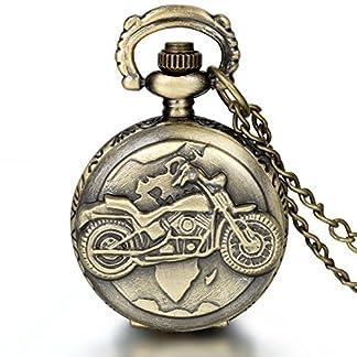 JewelryWe-Herren-Taschenuhr-Retro-Motorrad-Uhr-Anhnger-Analog-Quarz-Kettenuhr-Pullover-Halskette-Kette-fr-Vatertag