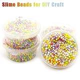 Omiky® Regenbogen Bunte Styropor Dekorative Schleim Perlen DIY Handwerk Für Crunchy Slime