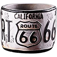 SODIAL Blanco Estilo Industrial Rt66 Ronda cenicero Retro Europea de Cemento Americana Salon Barra Cafe Retro
