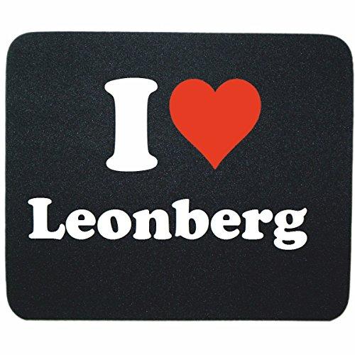 """Exklusive Geschenkidee: Mauspad """"I Love Leonberg"""" in Schwarz, eine tolle Geschenkidee die von Herzen kommt- Rutschfestes Mousepad- Weihnachts Geschenktipp"""