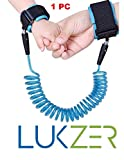 LUKZER Small Professional Safety Security Spiral Coil Elastic Harness Leash Anti Lost Wrist Cuff Link Traction Rope Strap for Toddler Baby Kids (Boys,Girls)(1 PC)