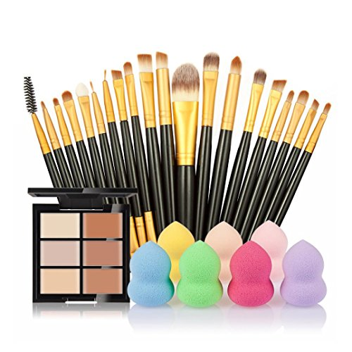 vovotrade-6-colores-ocultador-20pcs-cepillo-del-maquillaje-1pc-gotitas-de-agua-soplocolor-c