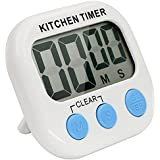 Minuterie numérique de cuisine, Bukm magnétique cuisine numérique cuisson Timer Count Up / Down minuterie numérique avec grand écran LCD pour la cuisine, les devoirs, l'exercice (blanc-bleu)