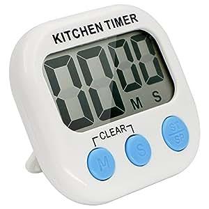 Timer da cucina bukm magnetico digitale timer con ampio display lcd e allarme timer per cucina - Timer da cucina ...