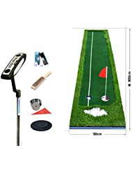 WENZHE Alfombra De Práctica Golf Putting Estera Establecer Pendiente Propia Interior Afuera 3 * 0.75 / 3 * 0.5 M ( Color : Four-color grass , Tamaño : 3*0.5m )