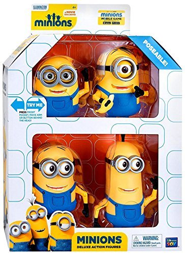 Minions Movie - Deluxe Poseable Action Figures - Limited Edition