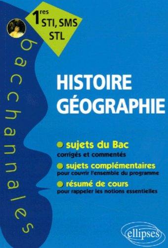 Histoire-Géographie 1e STI, SMS, STL