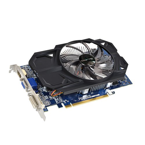 Gigabyte AMD Radeon R7 250 2GB DDR3 Graphics Card(GV-R725OC-2GI/ PCI-E 3.0 /128 bit / D-SUB / Dual-Link DVI-D / HDMI / OC / Single fan)